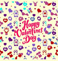 Valentine day pattern vector