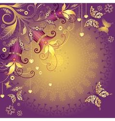 valentine vintage frame vector image vector image