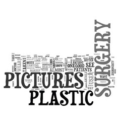 What do plastic surgery pictures look like text vector