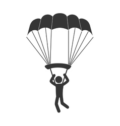 Parachute sky air man vector
