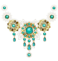 Jewelry with turquoise vector