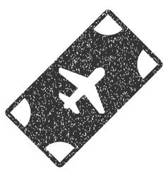 Boarding pass icon rubber stamp vector
