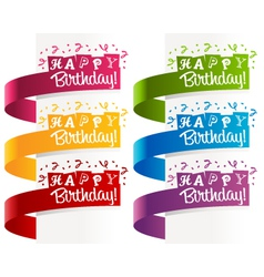 Happy birthday banners vector