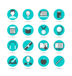 Learning flat icon set vector