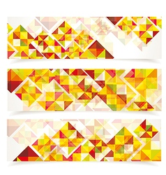 Banners mosaic WT vector image