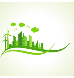 Ecology concept with abstract design vector