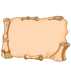 Scroll of old ancient empty vector