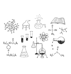 Science and chemistry set vector