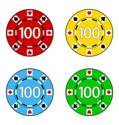 Set of casino chips vector
