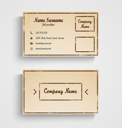 Retro business card with grunge template vector