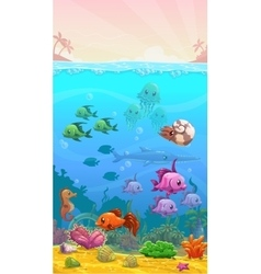 Underwater tropical vector
