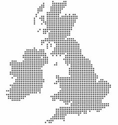 uk dot map vector image