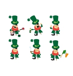 Collection of humor character for saint patricks vector