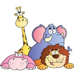 Four Wildlife Animals vector image
