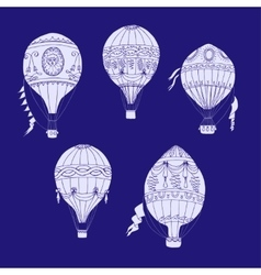 Air balloons backgr-16 vector