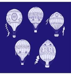 Air balloons backgr-16 vector