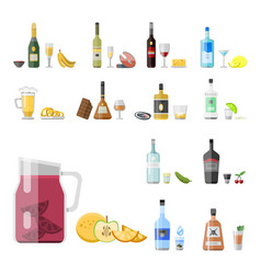 alcohol drinks beverages cocktail appetizer bottle vector image