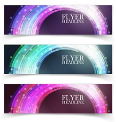 Banners with colorful cells vector image vector image