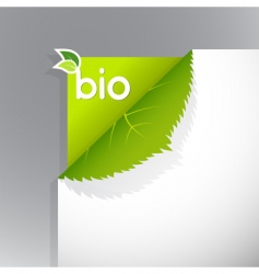 bio sign vector image vector image