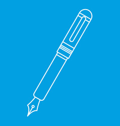 Black fountain pen icon outline vector