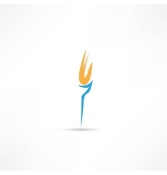 Burning torch icon vector image vector image