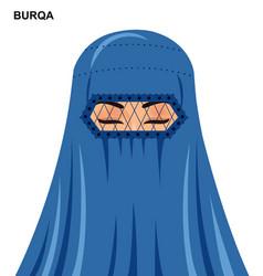 Burqa style beautiful muslim woman vector