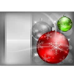 christmas background baubles color 4 10 v vector image vector image