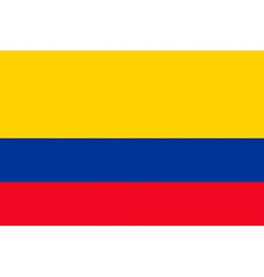 colombian flag vector image vector image