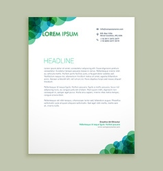 Creative business letterhead identity vector