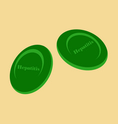 Flat icon on theme world hepatitis day hepatitis vector
