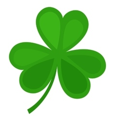 Green clover leaf isolated on white background vector image vector image