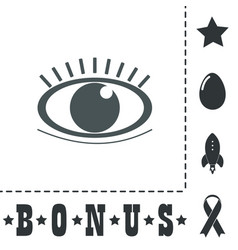 Icon - human eye vector
