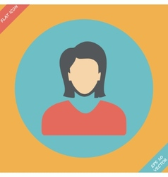 Icon of woman - vector