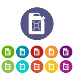 Jerrycan set icons vector image