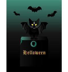 Kitten halloween vector