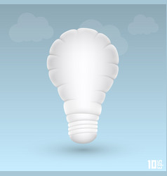 Light cloud vector