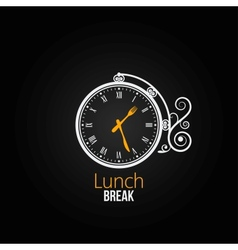 lunch clock concept design background vector image vector image