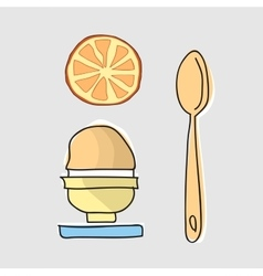 Morning breakfast with egg vector image