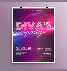 Music party flyer template in a4 size vector