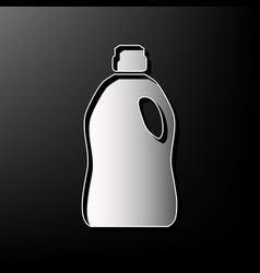 Plastic bottle for cleaning gray 3d vector