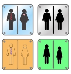 Restroom Sign with Man and Woman vector image