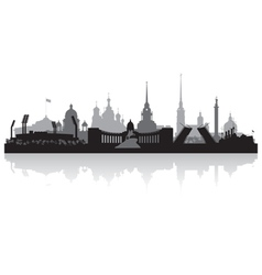 Saint petersburg city skyline silhouette vector