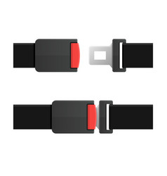 Seatbelt open and closed set vector