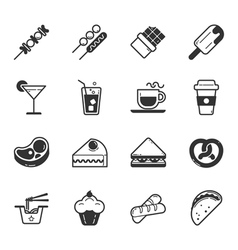 Set of fastfood icons eps10 format vector