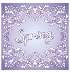 Spring card with pattern vector