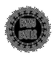 sticker happy easter easter single icon in black vector image vector image