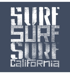 Surfing print 004 vector image vector image