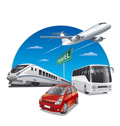 travel transport vector image vector image