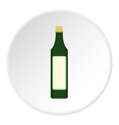 Vinegar bottle icon circle vector