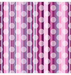 Seamless striped pink pattern vector